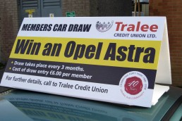 Tralee Credit Union - Car Roof Signage
