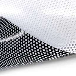 Perforated vinyl for Single Vision Window Graphics
