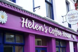 Helen's Coffee House - Raised 3D Lettering