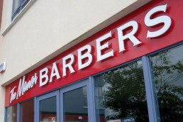 Manor Barbers - Tralee - Raised 3D Lettering