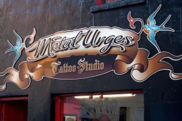 Metal Urges - Raised 3D Lettering