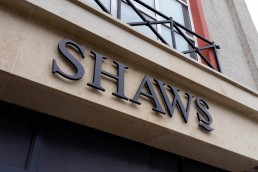 Shaws - Backlit 3D Lettering