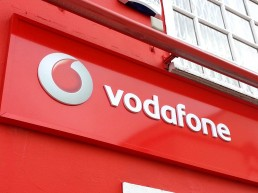 Vodafone - Raised 3D Lettering