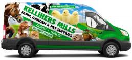 Kellihers Mills - Ford Transit Vehicle Wrap