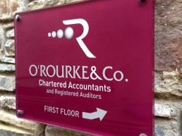 O Rourke & Co. Chartered Accountants - Nameplate