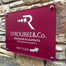 O Rourke & Co. Chartered Accountants - Nameplate