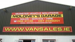Moloney's Garage - Cladding Signage