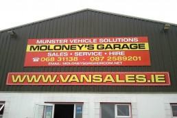 Moloney's Garage - Cladding Signage
