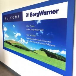 BorgWarner - Wall Signage