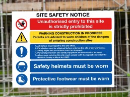 Health and Safety Signage - Site Safety Notice