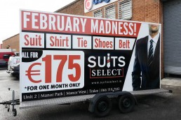 Suits Select - Promo Trailer Signage