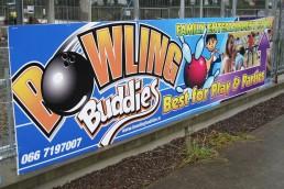 Bowling Buddies - Hoarding Signage