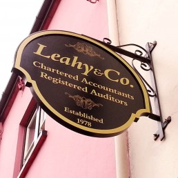Leahy & Co - Projecting Sign with Frame