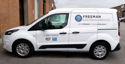 Freeman Electrical Services - Van Signs