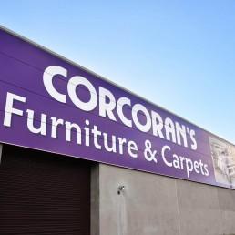 Corcorans Furniture & Carpets - Cladding Signage