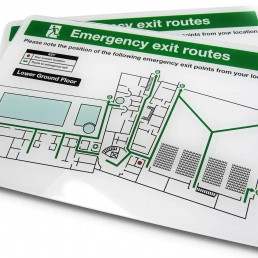 Emergency Exit Routes - Acrylic Plates