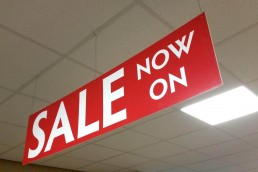 Sale Now On - Hanging Sign