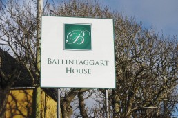 Ballingtaggart House - Aluminium Sign with Channel Rail
