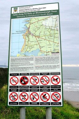 Kerry County Council - Aluminium Beach Signage