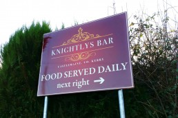 Knightly's Bar - Aluminum Sign with Channel Rail