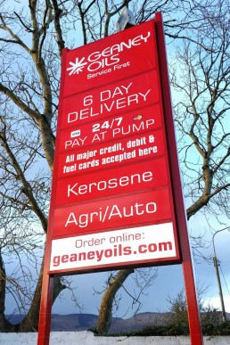 Geaney Oils - Freestanding Signage