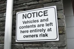 Car Park Disclaimer - Aluminium