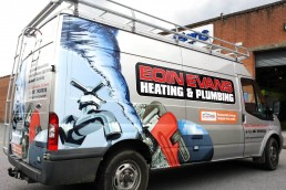 Eoin Evans Heating & Plumbing - Partial Vehicle Wrap