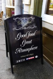 The Grand Hotel - Pavement Sign