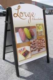 Lorge Chocolatier - Pavement Signs