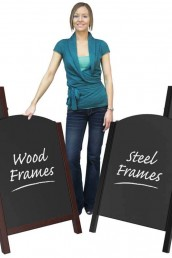 Chalkboard Pavement Displays - Steel & Wooden Frame