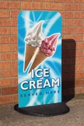 Ice Cream Shop - Pavement Sign