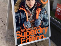 Superdry - A-Master Pavement Sign