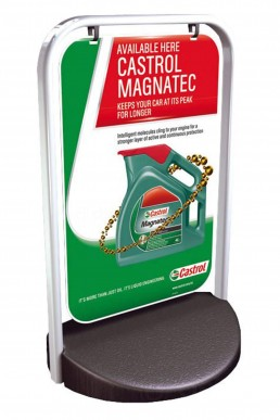 Castrol Magnatec - Swinger 2000 Pavement Sign