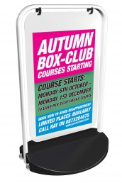Autumn Box Club - Swinger 3000 Pavement Sign