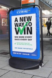Swinger 4000 Poster Pavement Sign