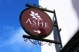 The Ashe Hotel - Projecting Sign with Frame