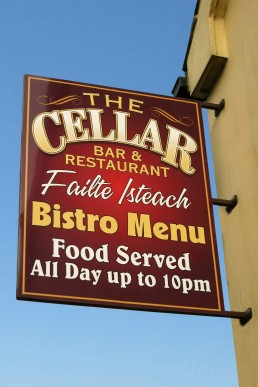 The Cellar Bar - Projecting Sign