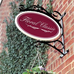 Floral Classic Projecting Sign with Frame