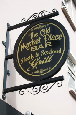 The Old Market Place Bar - Projecting Sign with Frame