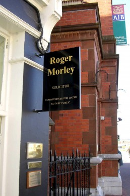 Roger Morley - Projecting Sign