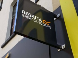 Regatta - Projecting Sign