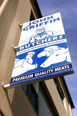 John Griffin Butchers - Projecting Sign