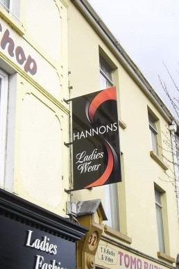 Hannon's Fashion - Projecting Sign
