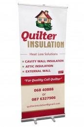 Quilter Insulation - Pull Up Banner Stand