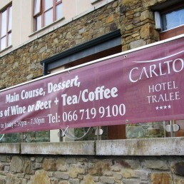 Carlton Hotel - PVC Mesh Banner