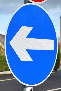 Traffic Signage - Regulatory Directional Road Sign