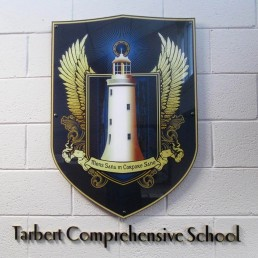 Tarbert Comprehensive School - Acrylic Crest and 3D Lettering