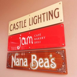 Castle Lighting Nana Bea's - Acrylic Wall Signage