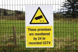 Geaney Oils - CCTV Safety Sign