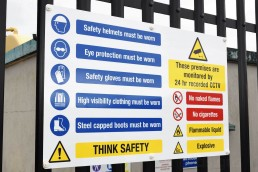 Multi-Message Safety Sign - Aluminium Composite